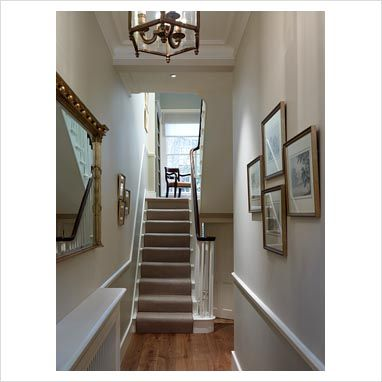 colour ideas living room dado rail simple yet elegant wall colour, banister, floor, carpet, radiator cover ...