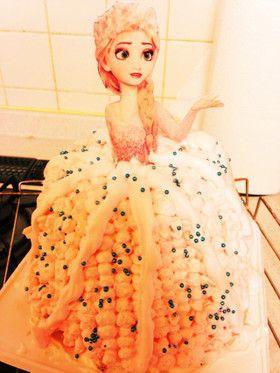 元祖!アナと雪の女王ケーキドールケーキ by えみしんはなみお ...