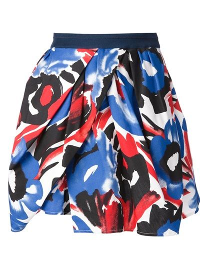 So colorful and fun! How can you NOT be happy in this skirt???  EGGS Painterly Print Skirt