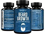 Beard Growth Supplement with Vitamins for a Fuller Longer & Thicker Beard | Also Promotes Faster Facial Hair Growth | Natural Complex with Biotin for Healthy & Strong Hair | 60 Capsules