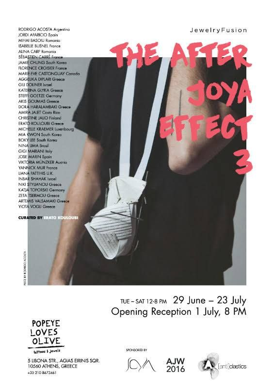 The After Joya Effect III - EXPO 'The After Joya Effect III' (during AJW) - Popeye loves Olive gallery, Athens (GR) - 29 Juin-23 Juill. 2016 - - X