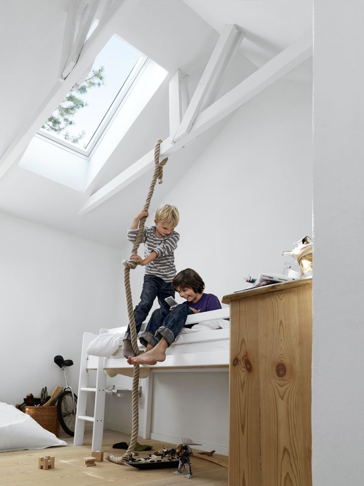 That moment when you look at that gloomy old loft and can see the delighted family members finally getting their own bedroom. That's the VELUX potential. VELUX roof windows can bring more daylight, more fresh air and more inspiration to your project.