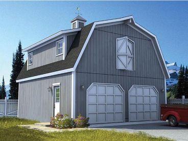 Best Front View Gambrel Roof Gambrel Barn Garage Workshop Plans 400 x 300