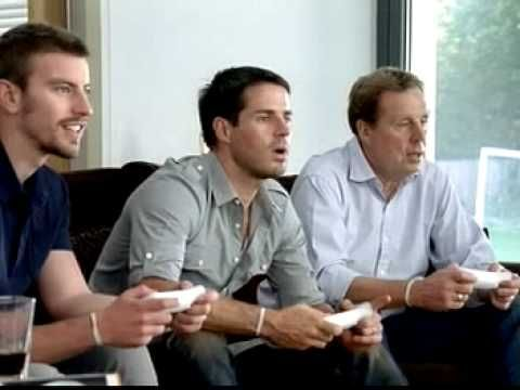 Realist Narrative Advert, it shows a family having a nice time playing on a wii, shows an element of competition that is sometime present in every day life.  Wii advert with Jamie Redknapp and Harry Redknapp