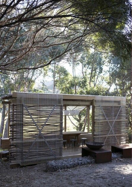 Rustic Outdoor Dining Pavilion : Remodelista
