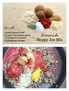 Skip the store bought mix or can and make your own EASY Homemade Sloppy Joe Mix! | 5DollarDinners.com