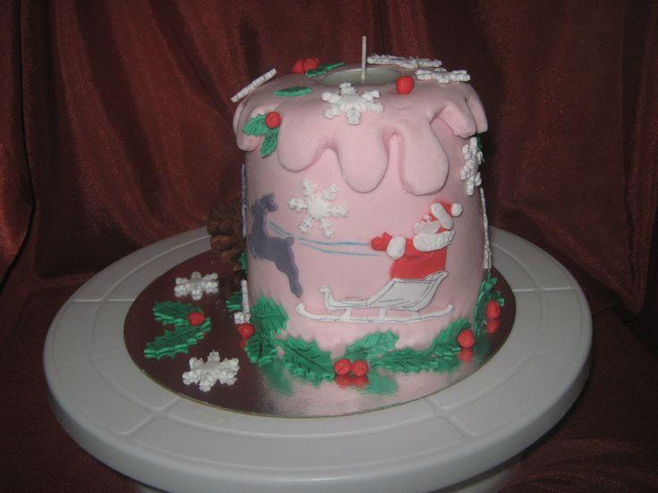 торт свеча