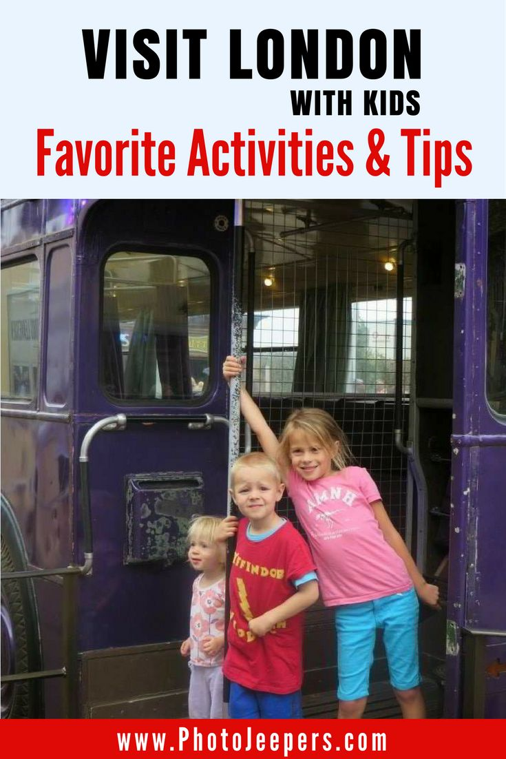 Travel to London with kids? Yes! We did a lot of planning and research to make sure the trip to London was both fun, and feasible, with the kids. We skipped the traditional museums and boring historical sights; instead, opting for a more kid-friendly approach to London. Here are some general tips and our favorite activities for visiting London with kids. Don't forget to save this London guide to your travel board!