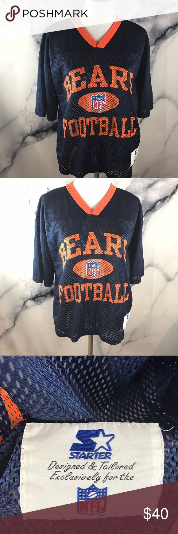 Starter VTG 90's Bears Jersey Excellent vintage condition!! M/46 on tag. Fits like a Men's S 🖤THANK YOU for supporting the dream of business ownership of 2 BFFs! 🖤DON'T PASS THIS UP! Make us an offer! 🖤We ship daily M-Sat, so youll get it on time! 🖤no price discussion in comments please🖤 use offer button 🖤reasonable offers accepted 🖤low offers countered🖤offers below 50% of asking price are auto declined🖤 starter Shirts