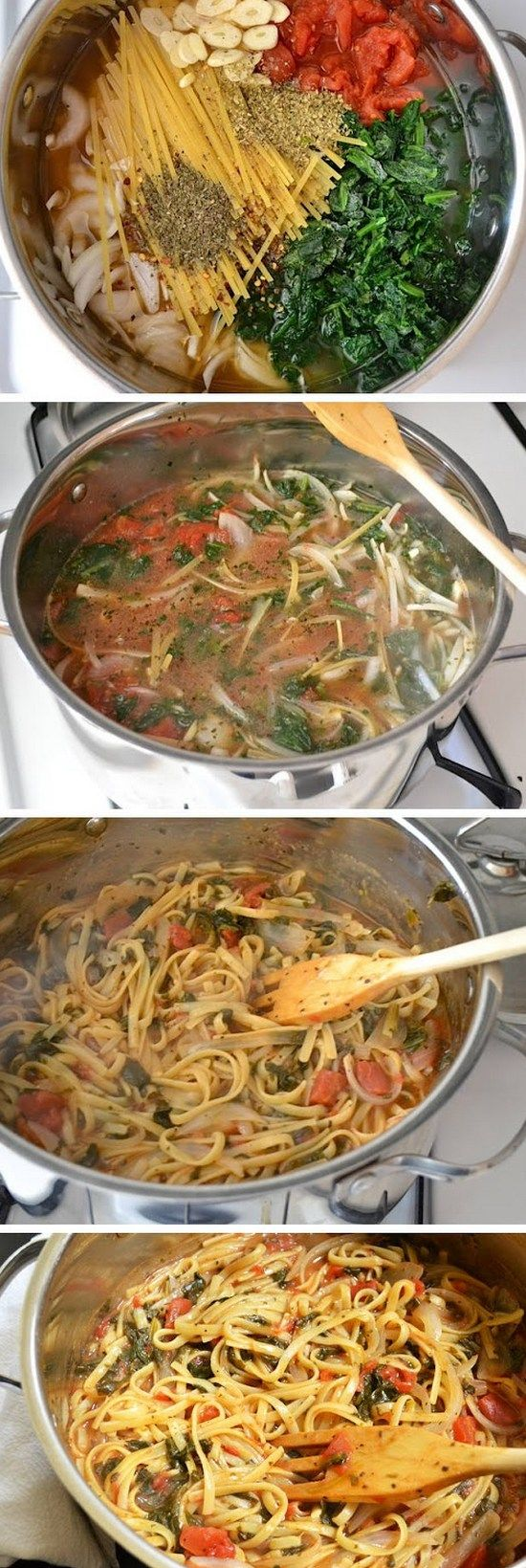 Italian Wonderpot Recipe! The Pasta Cooks in a Mixture of Broth, Herbs, and…