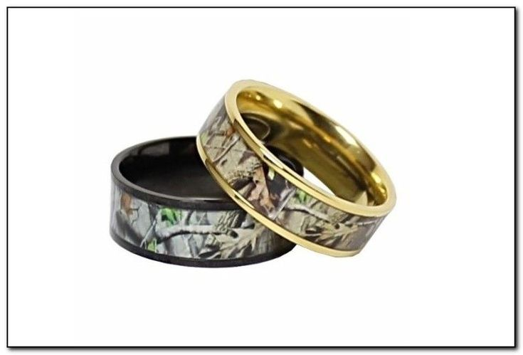 Camo Promise Rings For Him And Her - Thinking of a couple of my engaged cousins