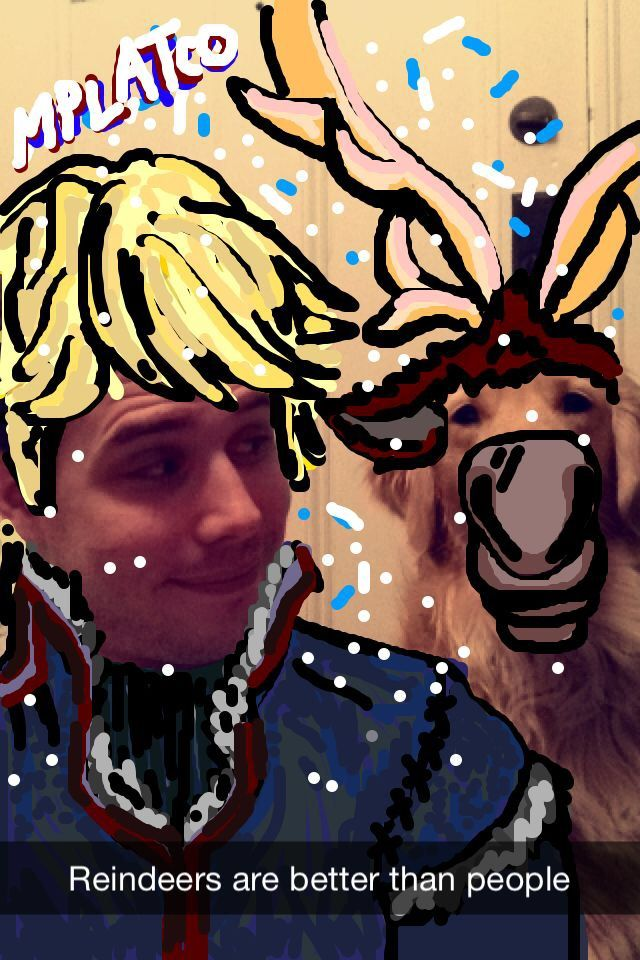 From what I have been told, this is my best Snapchat drawing yet. What can I say - I'm a huge Frozen fan! Add me for much, much more Frozen, Disney, Harry Potter, Golden Retriever and Doctor Who snaps! - mplatco