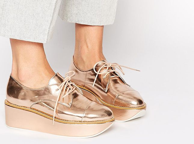 Meet the metallic platform Oxford.
