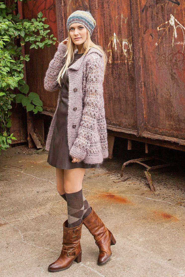Lana Grossa GEHÄKELTE JACKE Silkhair/Lace Lux - FILATI Handstrick No. 57 (Herbst/Winter 2014/15) - Modell 26 | FILATI.cc WebShop