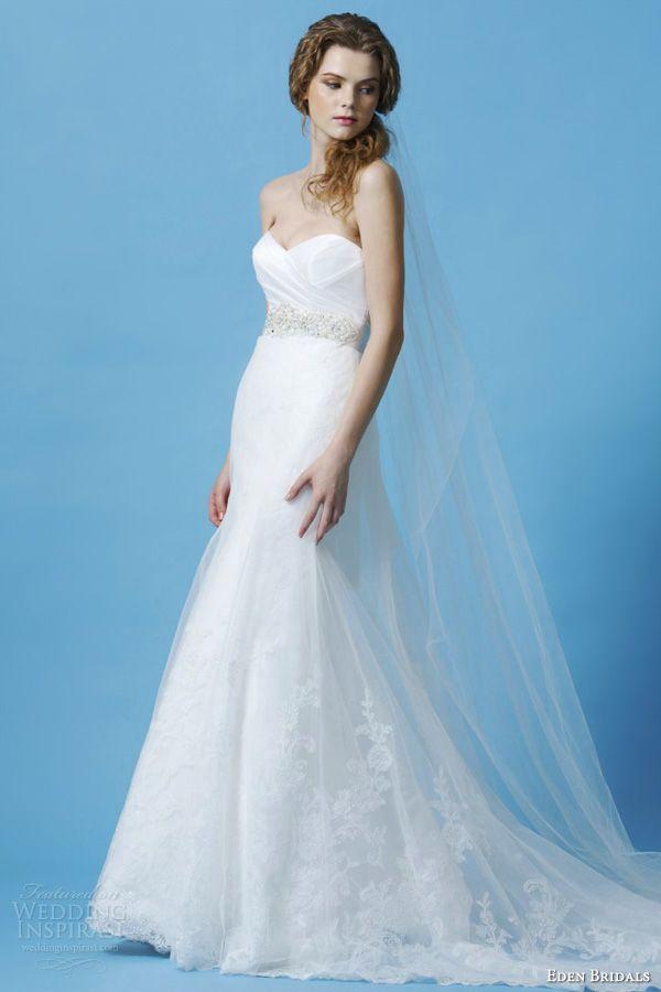 eden bridals 2013 black label bl034 strapless mermaid wedding dress