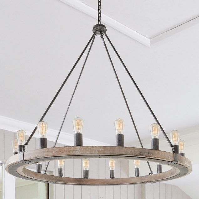 16 Light Chandelier In Urban Wash By Capital Lighting Wooden
