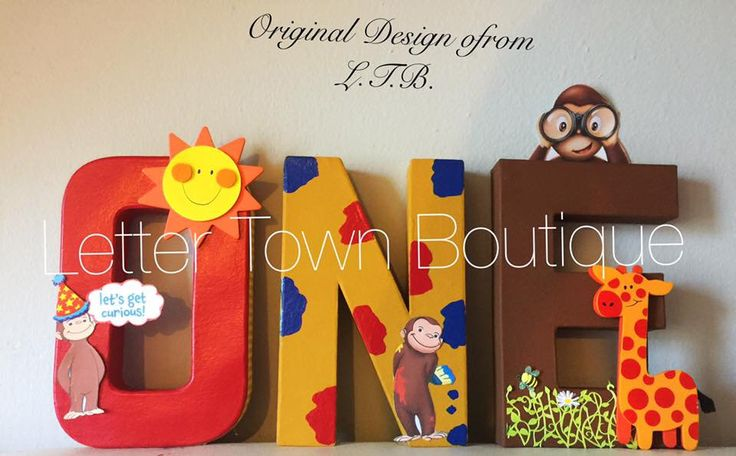 Curious George Letters Curious George Birthday Curious George Cake Table Curious George Party Letters Curious George Candy Table Letters by LetterTownBoutique on Etsy https://www.etsy.com/listing/457361806/curious-george-letters-curious-george