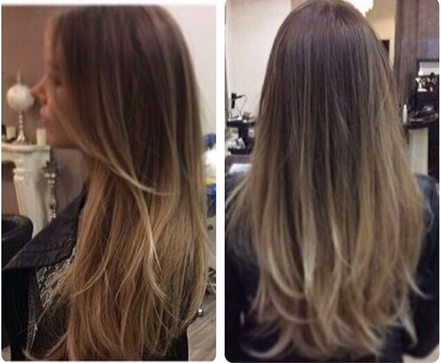 Ombr ash blonde honey brown balayage hair pinterest - Ombre hair braun ...