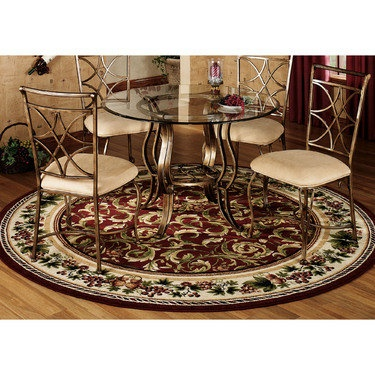 Inspiration Grapes And Acanthus Round Area Rugs Victorian Rugs