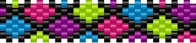 geometric small bead pattern