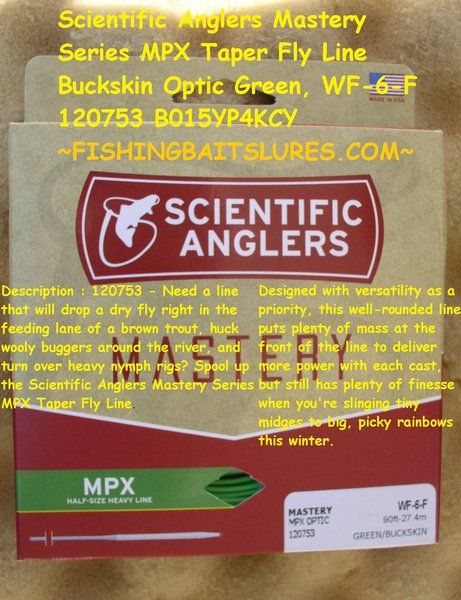 SCIENTIFIC ANGLERS 120753 WF-6-F MASTERY MPX OPTIC FRESHWATER FLY FISHING LINE FLOATING GREEN / BUCK SKIN http://fishingbaitslures.com/products/scientific-anglers-120753-wf-6-f-mastery-mpx-optic-freshwater-fly-fishing-line-floating-green-buck-skin