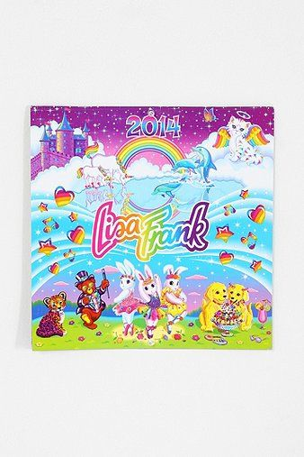 Lisa Frank 2014 Calendar (perfect for any 90s girl!) | urban outfitters