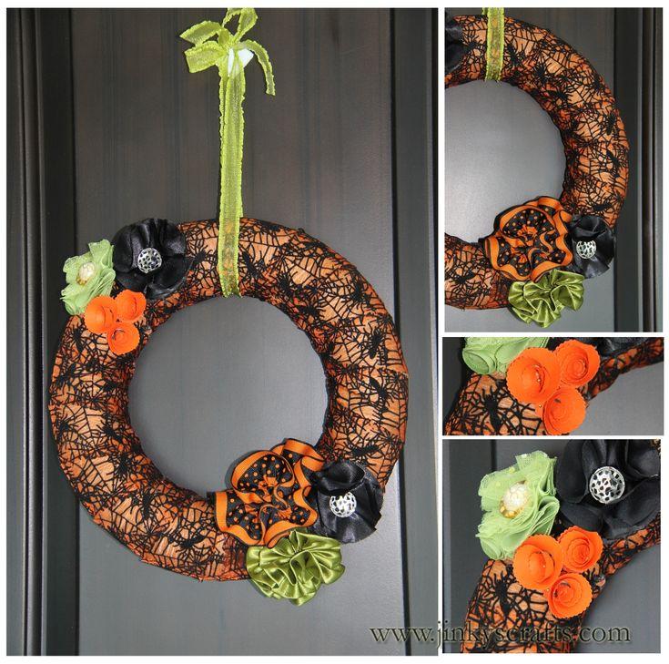 halloween flower garland