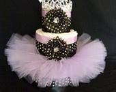 Diva Princess Red Cheetah Tutu Baby Diaper Cake. $80.00, via Etsy.