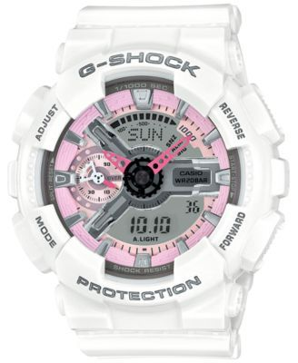 G-Shock Women's Analog-Digital S Series White Bracelet Watch 49x46mm GSTS100G-1A