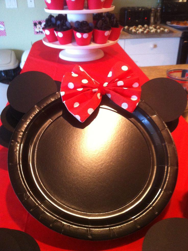 Minnie & Mickey Plates - Mickey Party