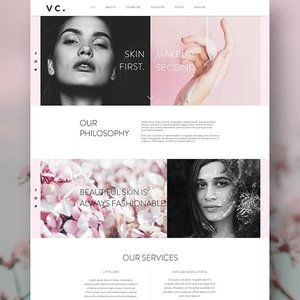 Looking good in pinks and charcoal for the weekend. Finishing up Friday afternoon with this lovely client website. Velvet Cosmetica website designed by Handsome Ground.