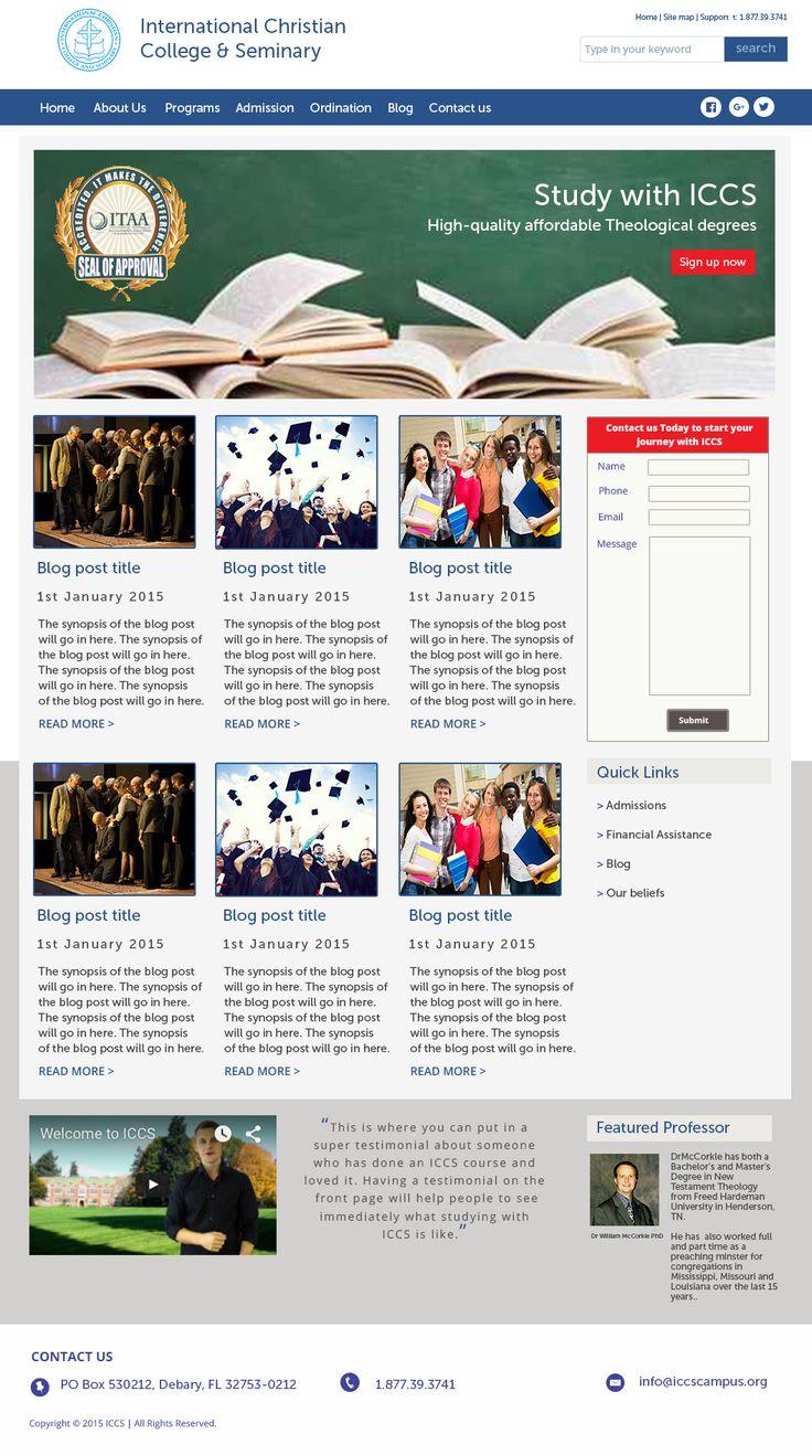 Website design for ICCS