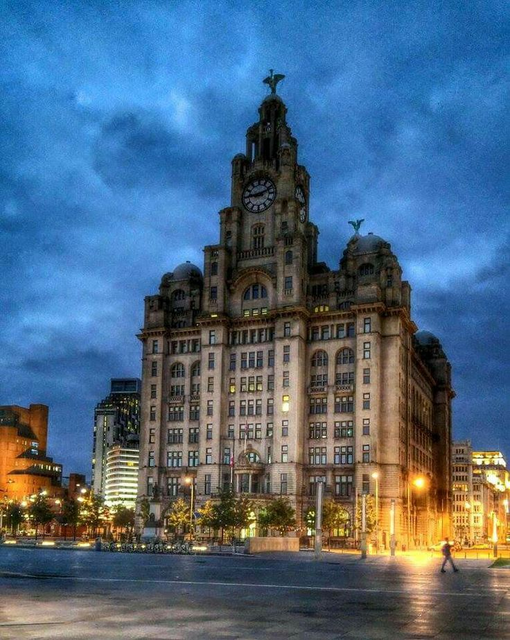 Liverpool waterfront the Liver building.