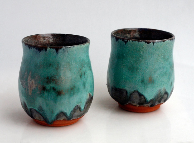 Pair of earthenware cups.