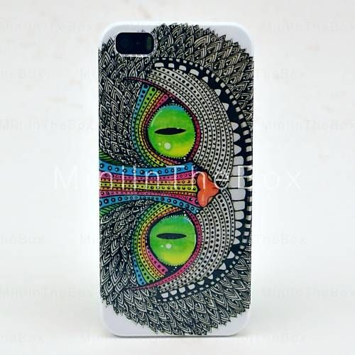 Tatuagem Brilhante Padrão Olhos Hard Case para iPhone 5/5S