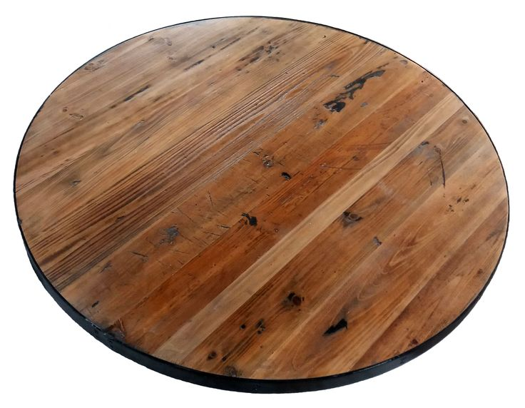 Round Reclaimed Wood Tabletops available from Restaurant and cafe Supplies Online. Quality restaurant furniture at fair prices.