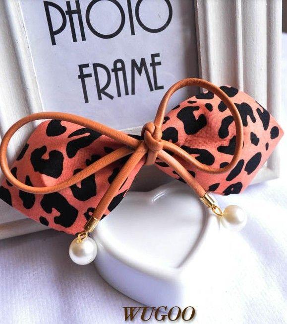 Fashion Leopard Print Big Bow Hair Pin - Headpieces - Accessories Free shipping