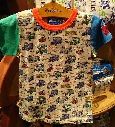 東京ディズニーリゾート ミッキー 乗り物 総柄 Tシャツ 100〜120