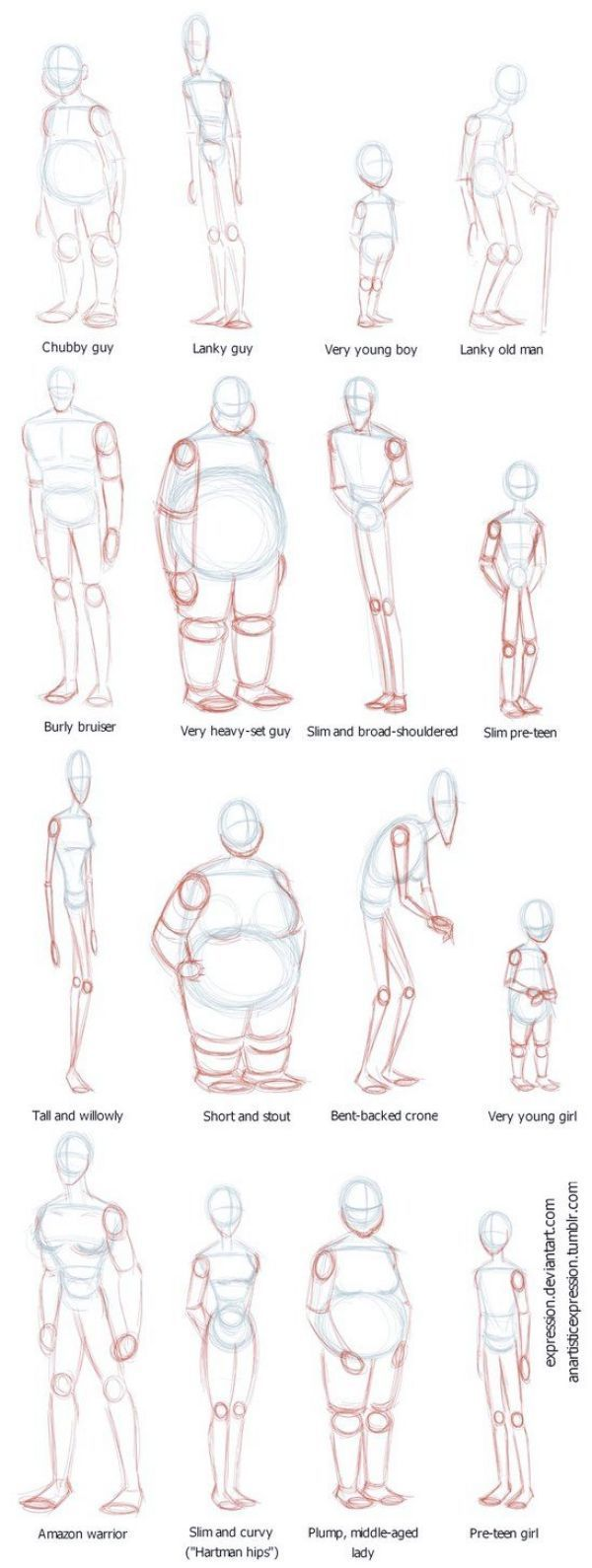 HOW TO DRAW BODY SHAPES: 30 Tutorials For Rookies