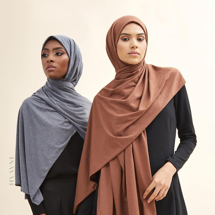 INAYAH | Contemporary trends coupled with classic hijab shades and fabrics - Dark Denim #Rayon #Blend #Jersey #Hijab + Tan Rayon #Blend #Jersey #Hijab www.inayah.co