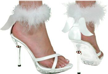 Shoe Sexy Angel White Women Large Shoe Sexy Angel « Holiday Adds