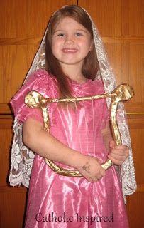 St. Cecilia Costume and Homemade Harp - Catholic Inspired