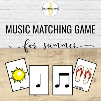 Summer Rhythms is a music matching game for quarter and barred eighth notes. This game can be used as a music center, a whole-group activity, or as an activity for early finishers. This is a great tool for rhythm review or as a fun rhythm assessment.