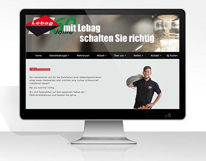 """Check out new work on my @Behance portfolio: """"Firmowa strona www firmy Lebag."""" http://be.net/gallery/44928737/Firmowa-strona-www-firmy-Lebag"""