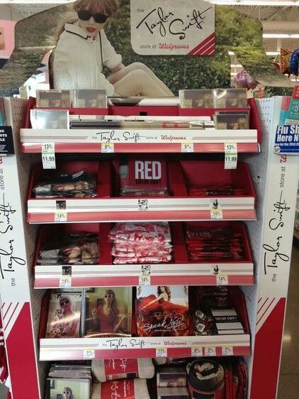 Who remembers the Taylor Swift Store at Walgreens? Omg, I bought so much stuff from Walgreens during the RED Era!