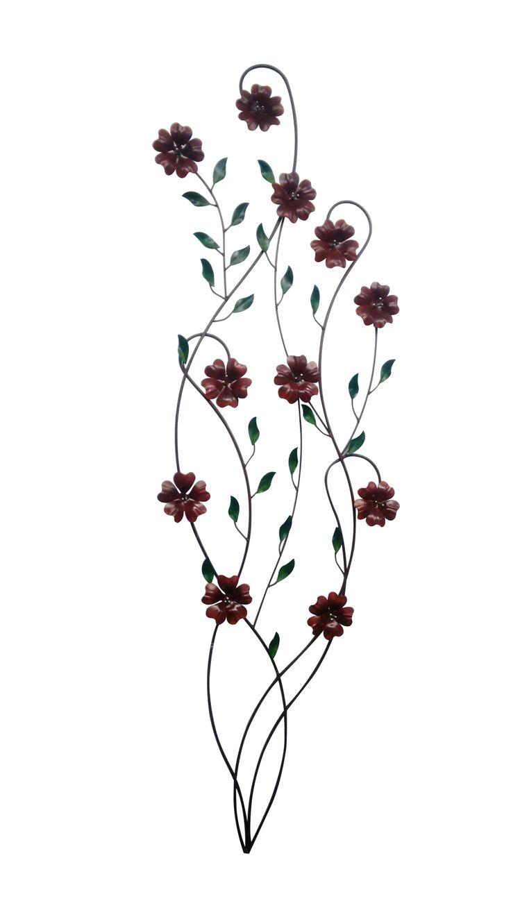 aplique  chamizo flores corazón