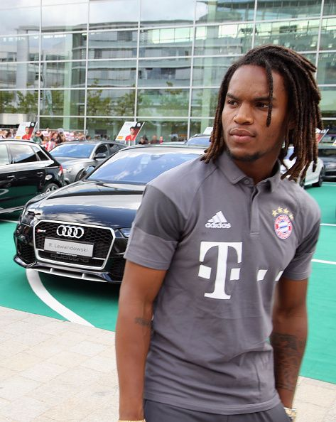 Renato Sanches of FC Bayern looks on in front of his new Audi car during the official car handover at Audi Forum on August 22 2016 in Ingolstadt...