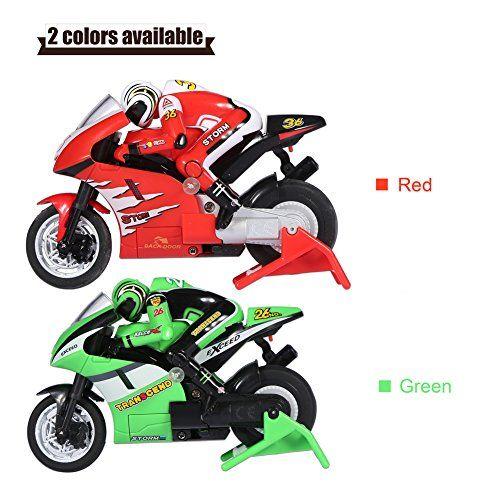 RC Motocicleta de Off-Road con Cable USB Mini Motocicleta Teledirigido para Niños Motocicleta de Juguete para Ninos