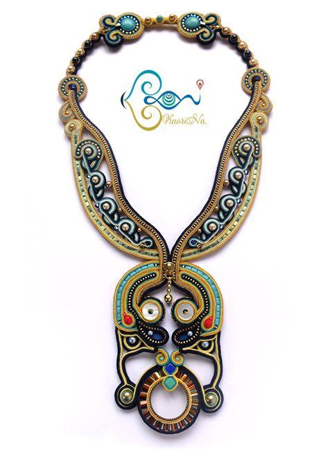 Soutache Necklace by KaoriNa. - Papilio Zipper