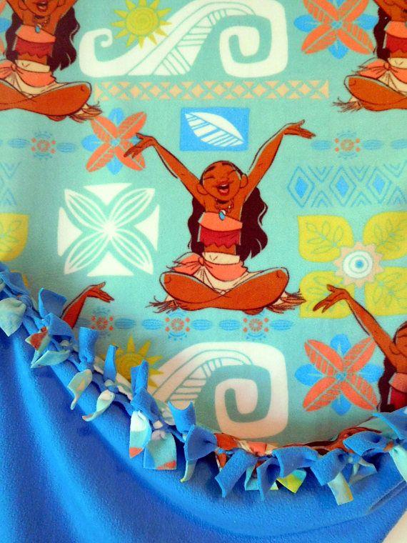 Moana Happy Days No Sew Hand Tied Character Blanket Made